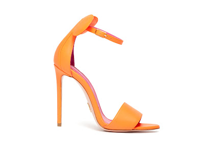 Oscar Tiye Spring Summer 2016 Minnie Sandal Orange