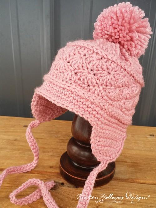 La Vie en Rose Earflap Hat - Free Pattern