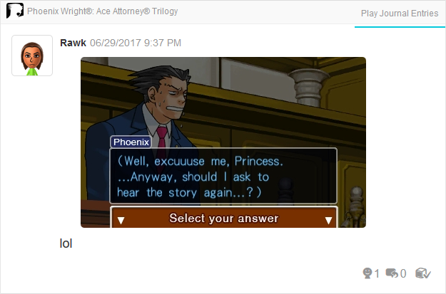 Phoenix Wright Ace Attorney Justice For All excuse me princess