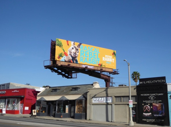 Peter Rabbit film billboard