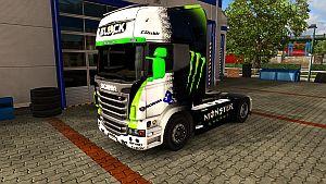 Monster Energy skin for Scania R & Streamline