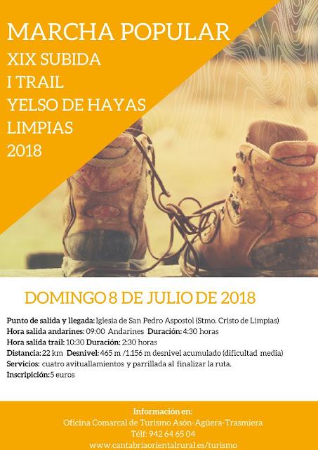 XIX Subida y Trail Yelso de Hayas, Limpias