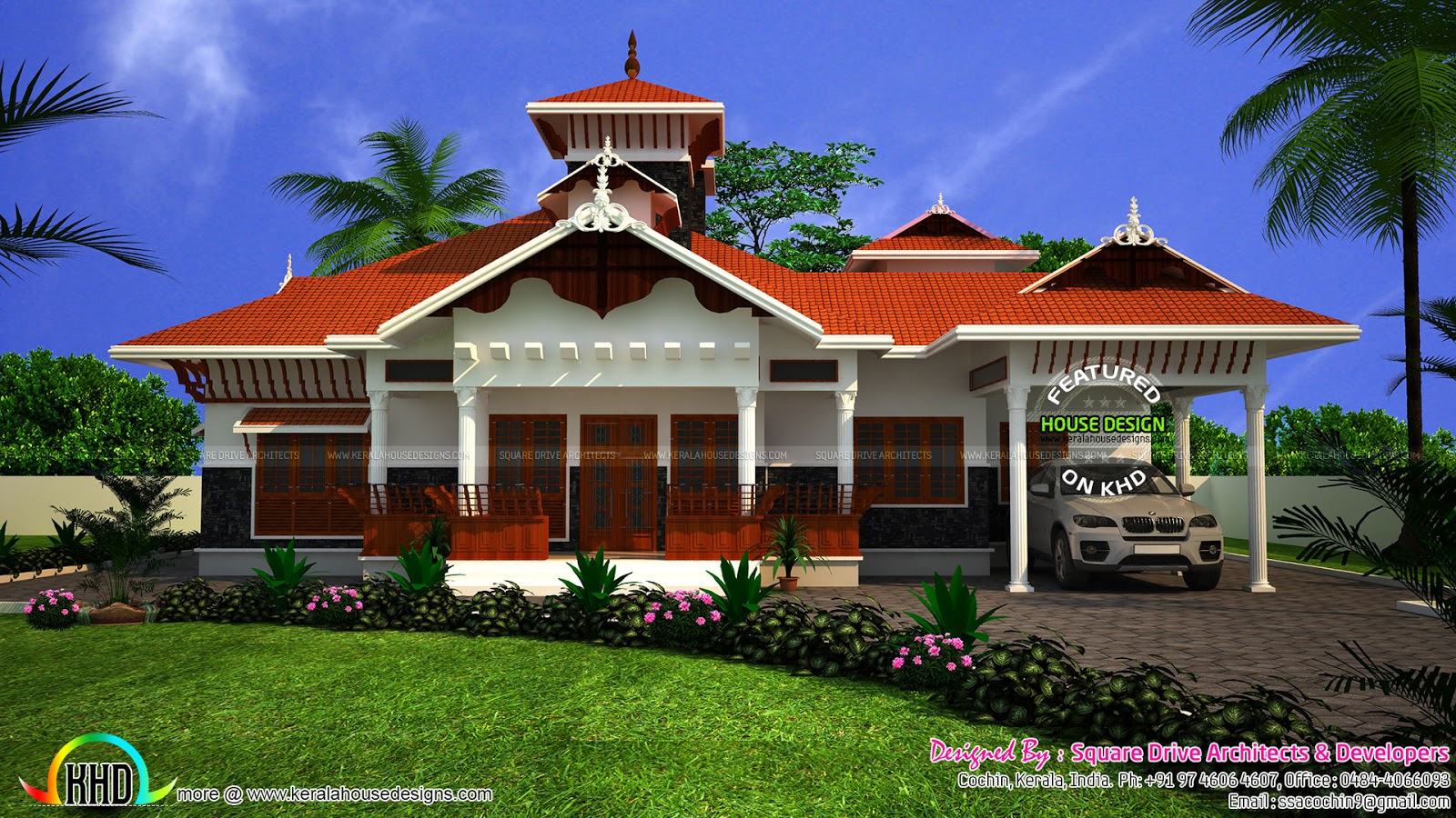 Super beautiful kerala traditional home kerala home for Traditional house plans kerala style