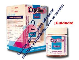 Capslim, cápsulas para bajar de peso mortales que se venden