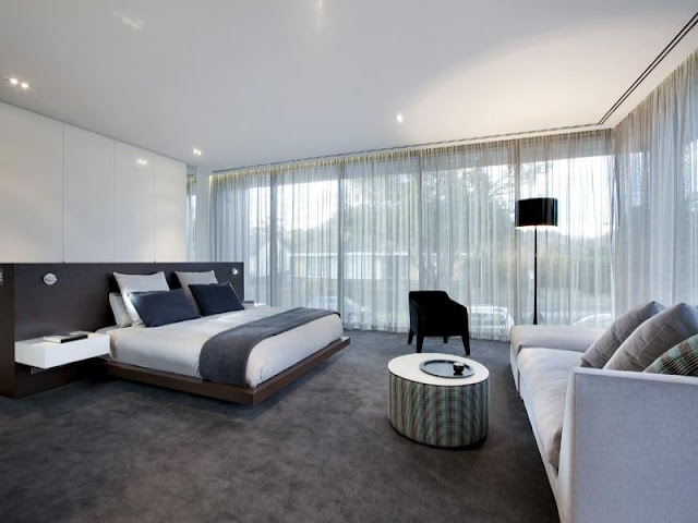 Photo of amazing modern bedroom in dream home in Melbourne