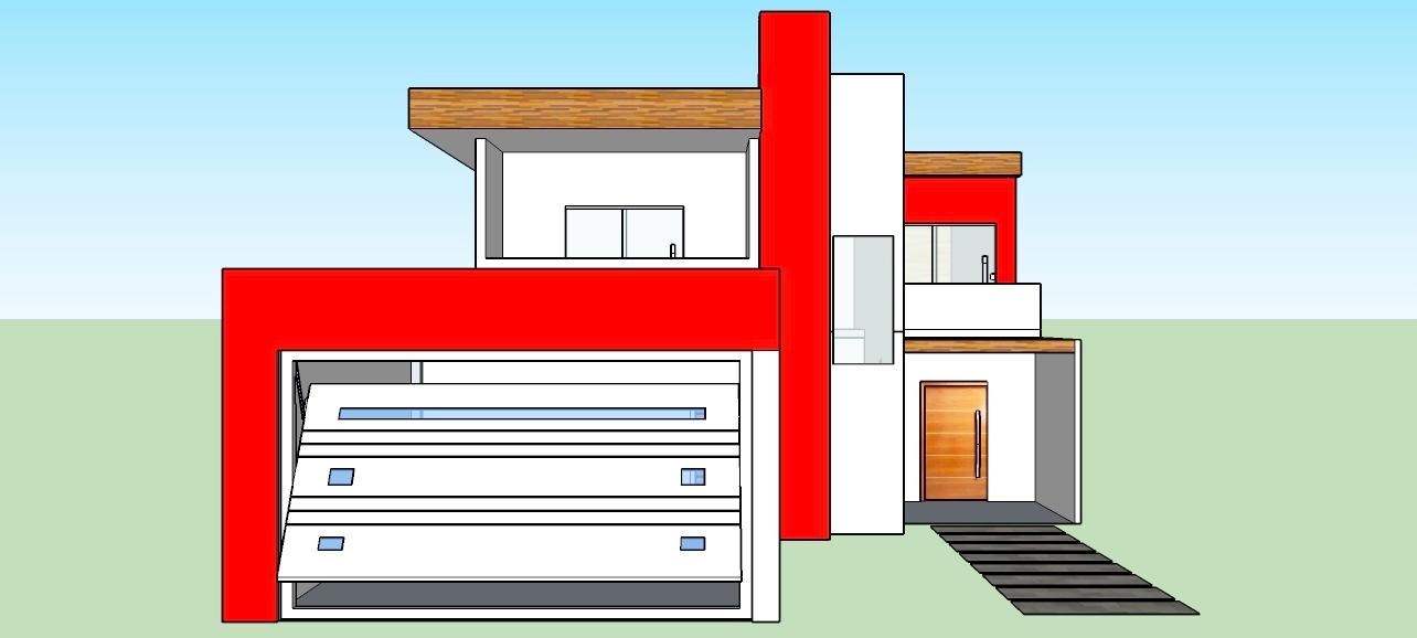 Casa moderna projetada no sketchup tudo pela arquitetura for Casa quinta moderna