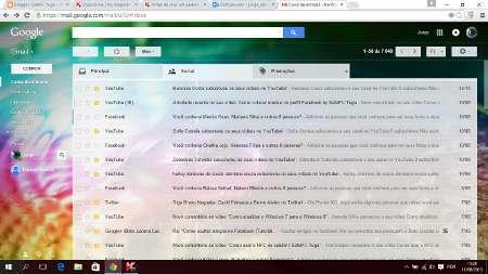 Como adicionar uma imagem de fundo no Gmail