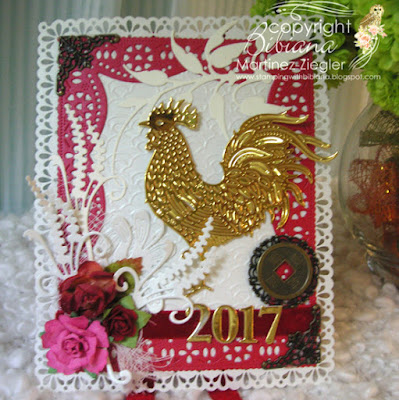 year of the rooster card front
