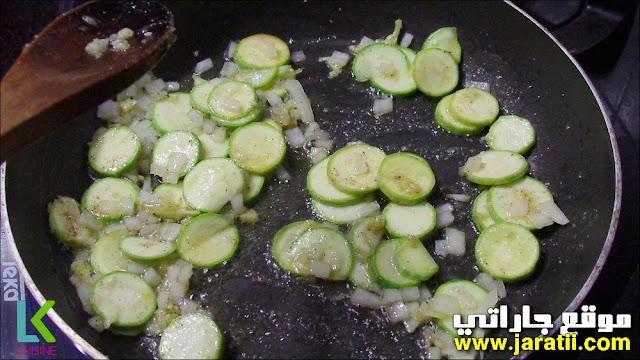 دجاج سهل مرفوق بخضر وحشوة لذيذة