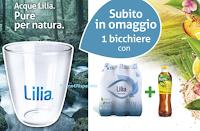Logo Acqua Lilia e FuzeTea ti regalano i bicchieri a marchio Lilia
