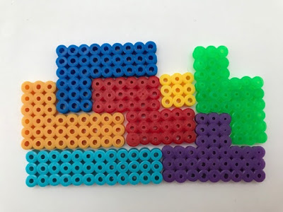 Hama bead Tetris shapes