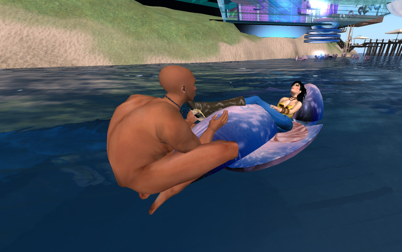 Relaxing At Future Femdom In Second Life With Ginette Pinazzo
