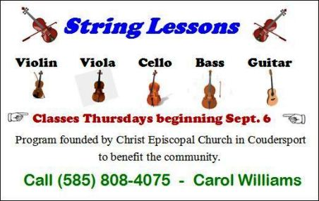 Thursdays--String Lessons In Coudersport