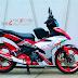 Tem exciter150 phiển bản trắng đỏ indonesia