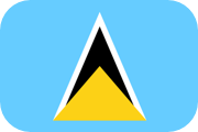 Rounded flag of Saint Lucia