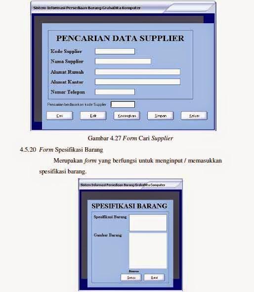 Ebook 991 Ebook Contoh Komputerisasi Sistem Persedian Barang
