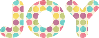 Image of the word Joy with polka dots to make it happy