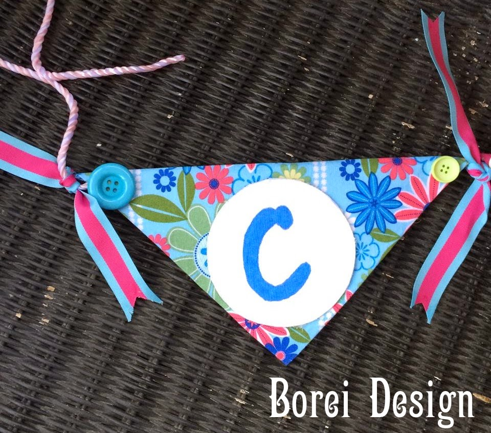 How to make an embellished home decor or party banner