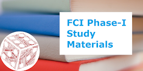 FCI 2019 Phase-I Study Materials for All Subjects: Download Now