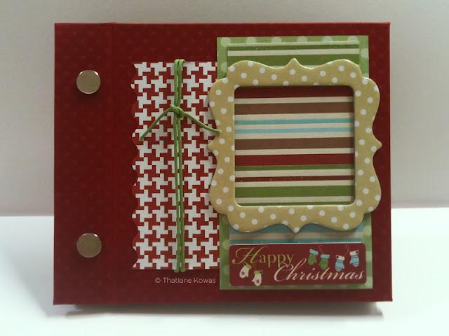 Mini álbum Scrapbook natal christmas