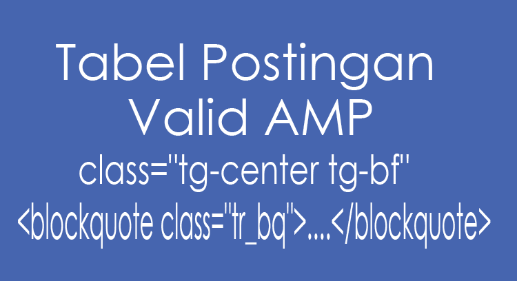 tabel AMP