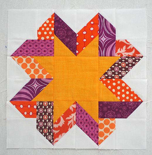 Ribbon Star Block Quilt Free Tutorial Designed by Lee Heinrich offreshlypieced