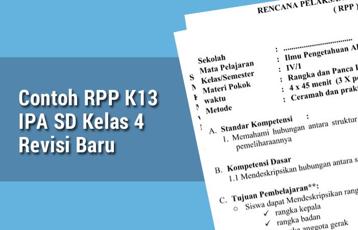 Contoh RPP K13 IPA SD Kelas 4  Revisi Baru
