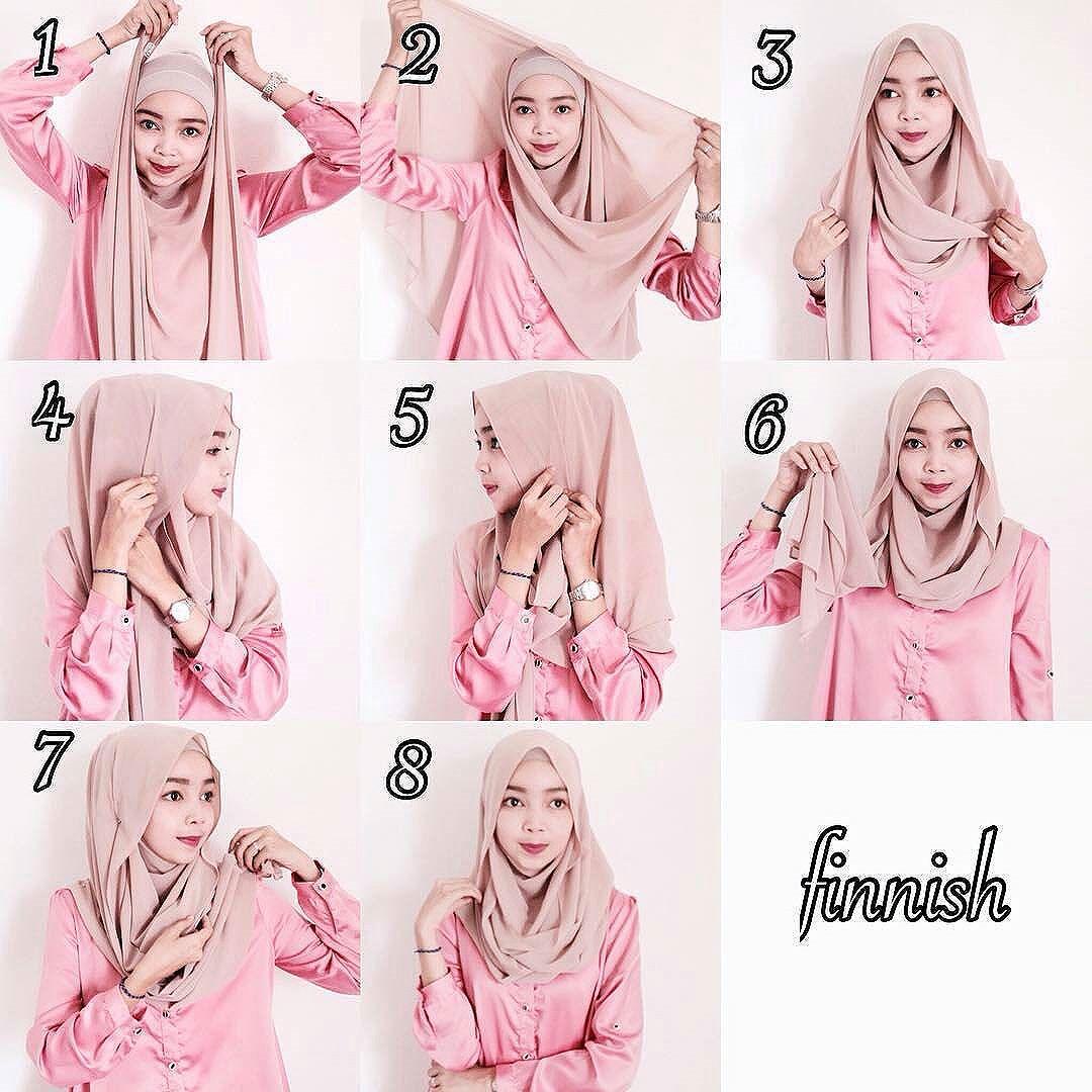 Tutorial Hijab Pashmina Panjang Tanpa Ninja