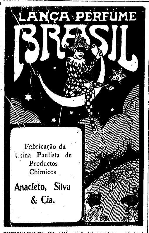 Venda de lança perfume em mercado brasileiro em 1921