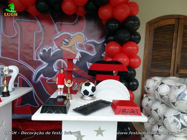 Mesa decorada Flamengo, aniversário