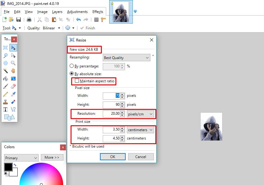convert photo to jpg 200 kb