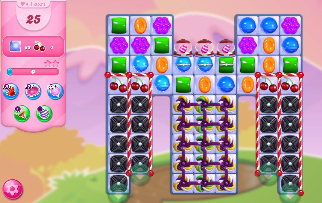 Candy Crush Saga level 6521