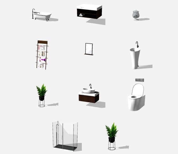 My sims 4 blog mimosa bathroom set by pyszny for Bathroom decor sims 3