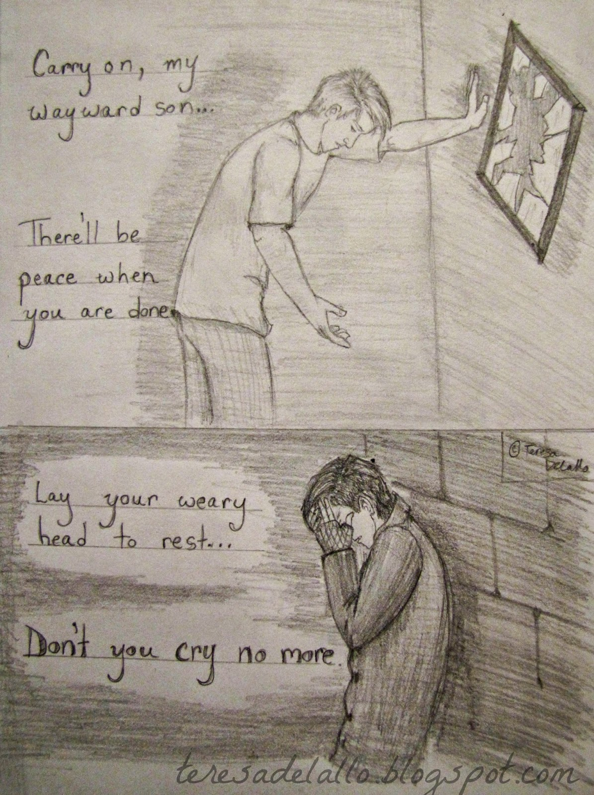 Sad Meaningful Drawings Depression