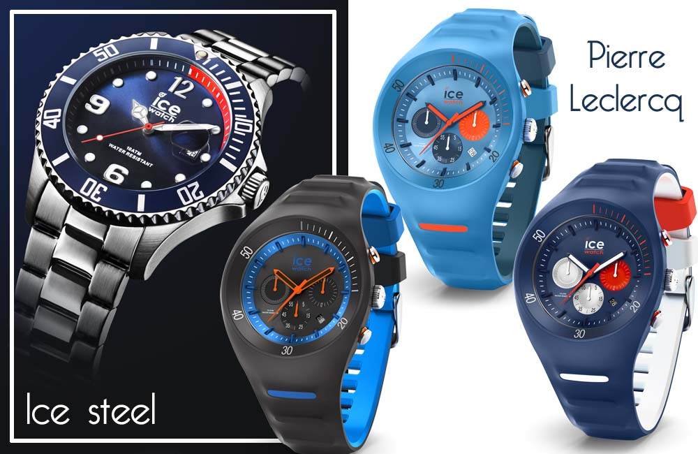 montre Ice watch  homme bleu