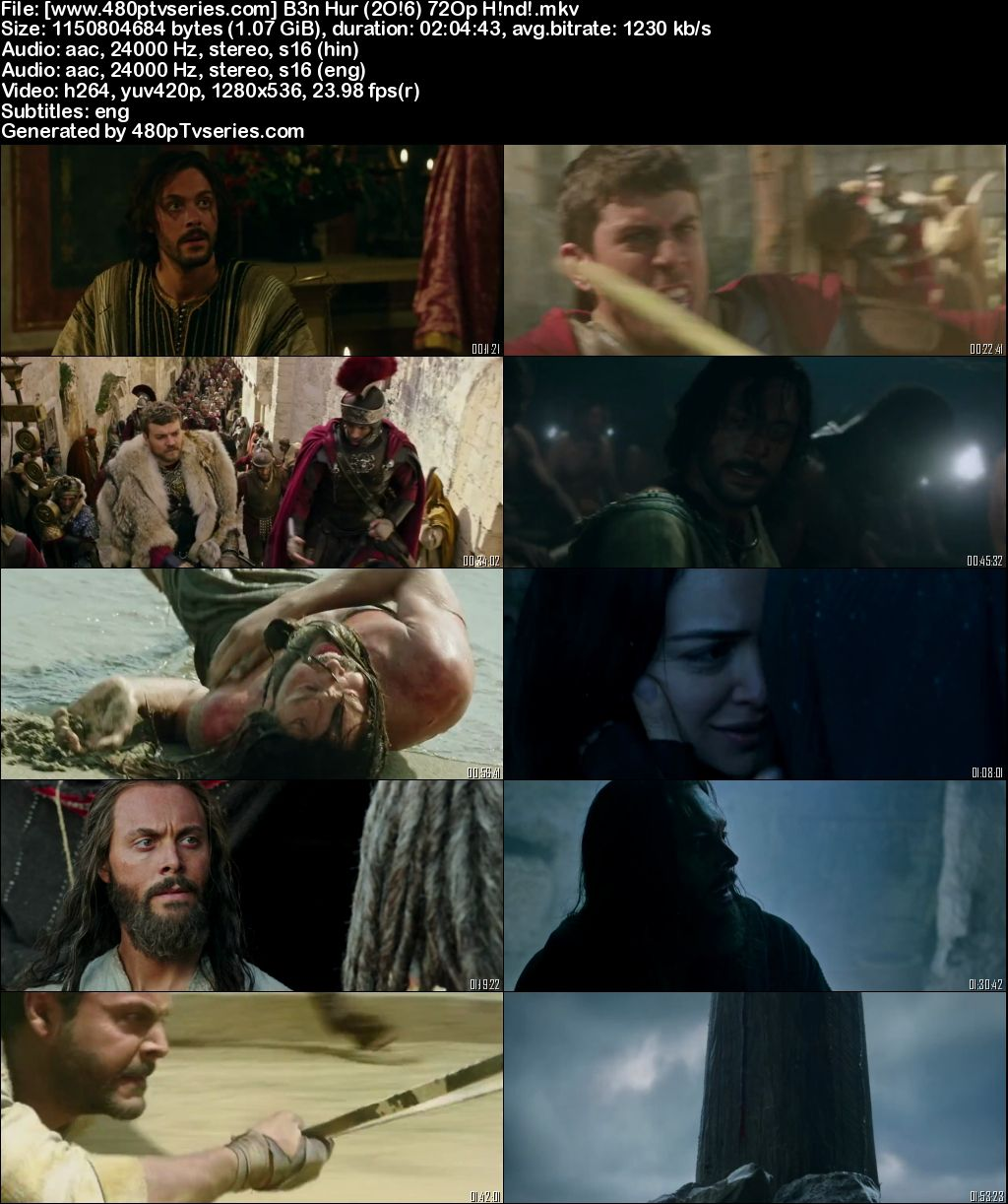 Watch Online Free Ben-Hur (2016) Full Hindi Dual Audio Movie Download 480p 720p Bluray