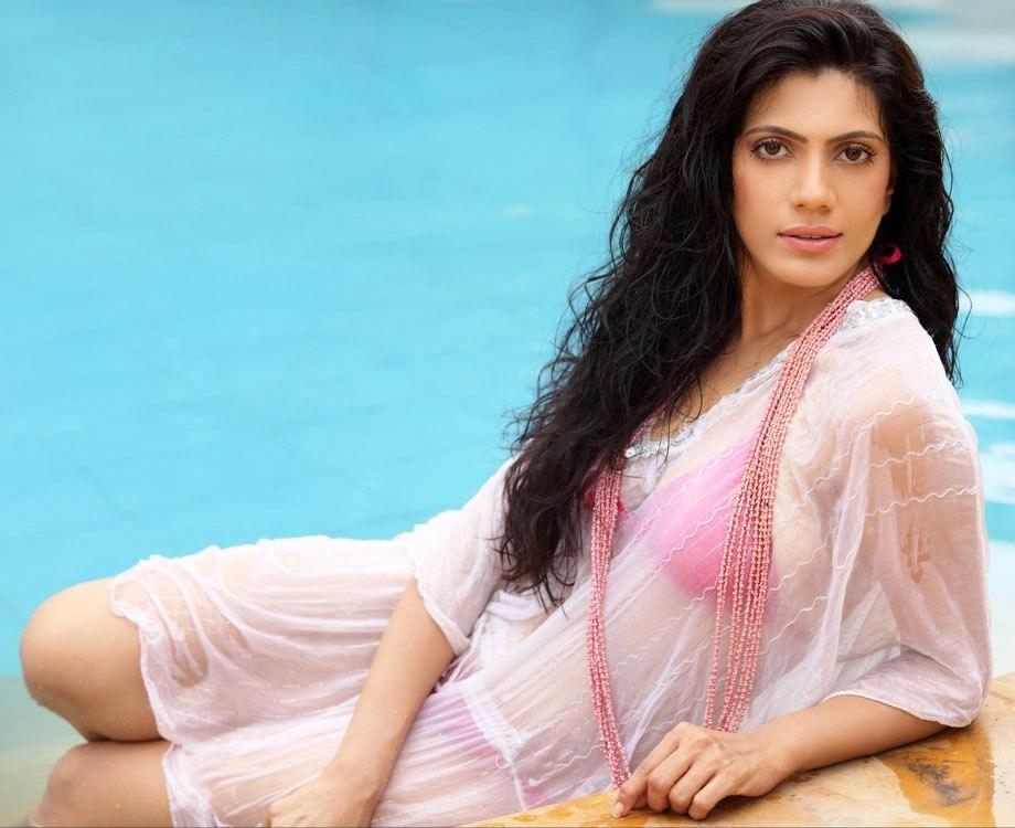 Rupali Falguni Hot Photos In Wet Transparent Dress