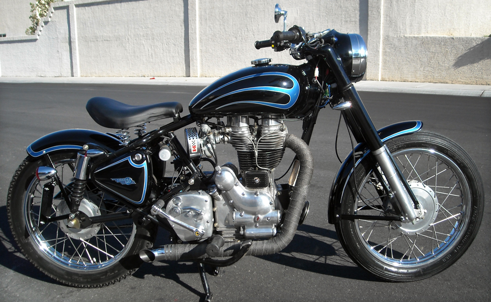 RoyalEnfields.com: Royal Enfield bobber is modified in ...