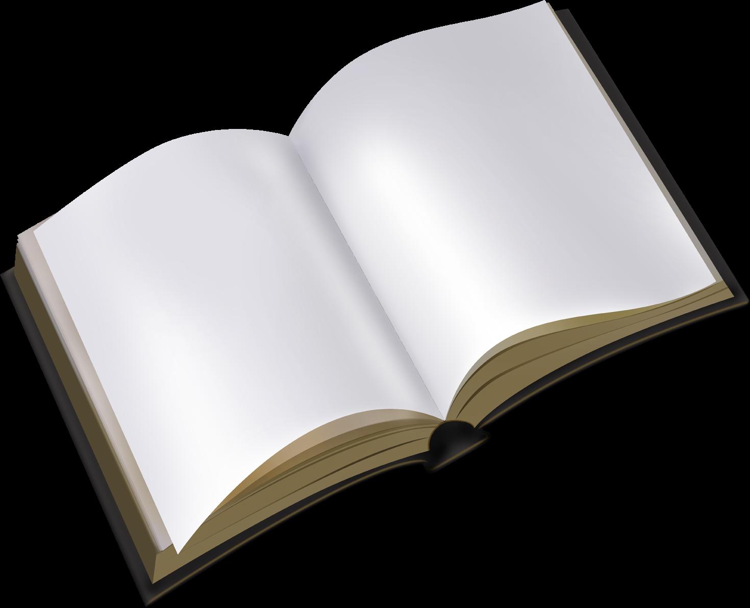 Render de un libro abierto