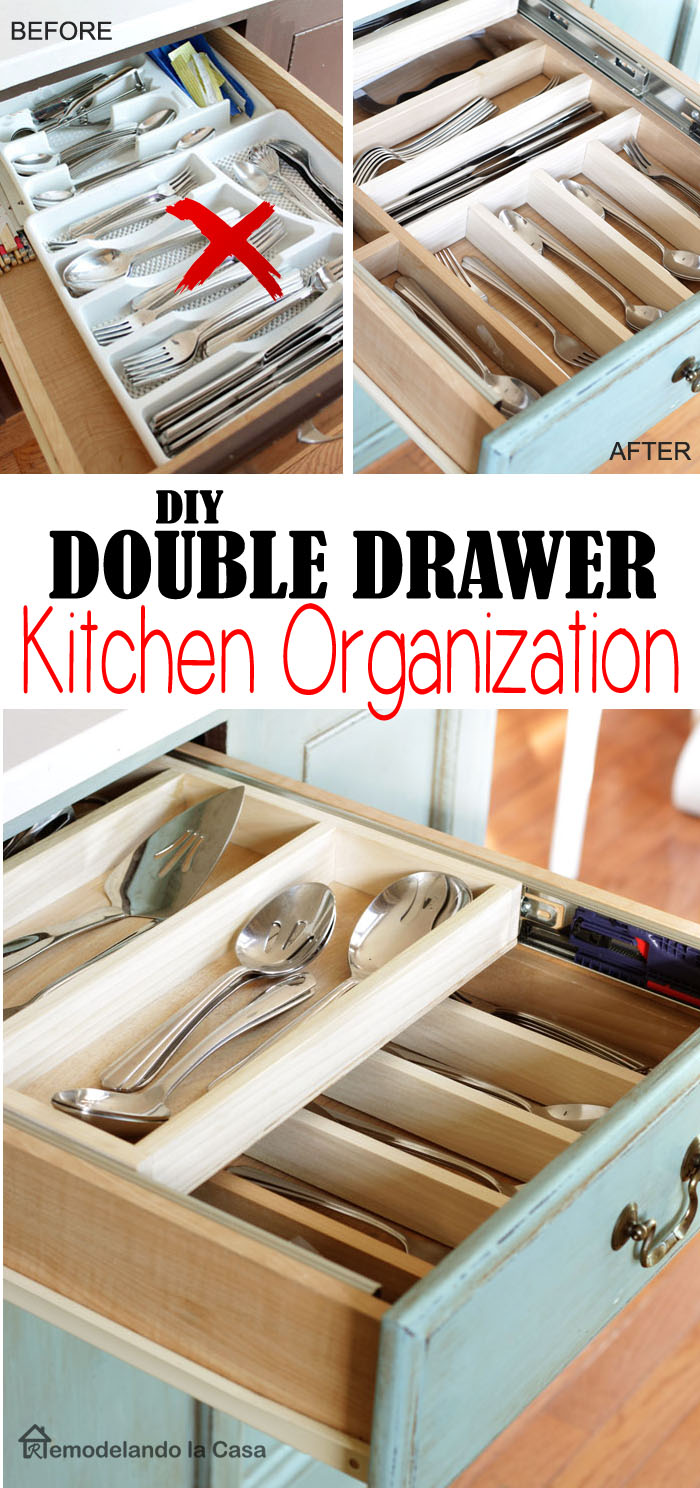 DIY - Double Layer Drawer Organization
