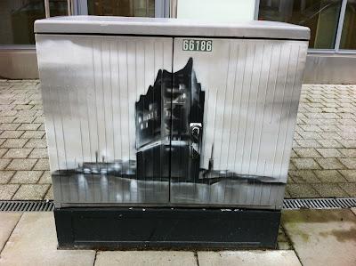 Streetart Hamburg, Stromkasten, Elbphilharmonie