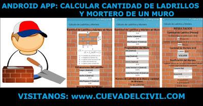 Calcular Cantidad Ladrillos Mortero Muro