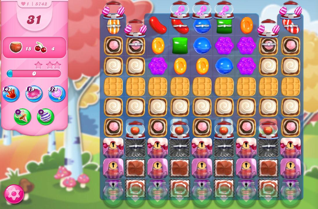 Candy Crush Saga level 5742