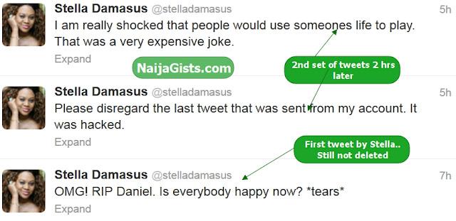 stella damasus twitter account hacked