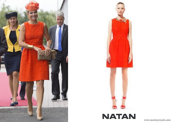 Queen Maxima wore a Natan summer dress in orange
