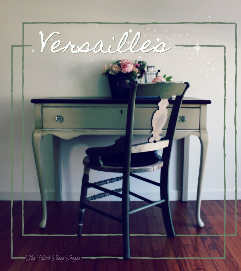 Desk painted in Versailles chalk paint.