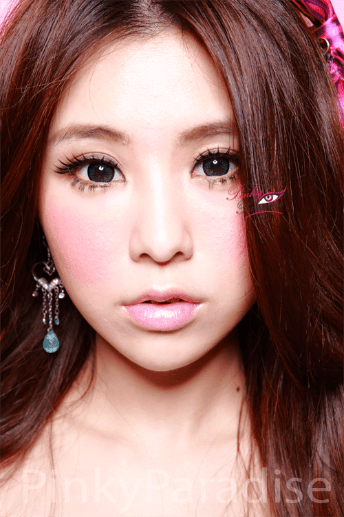 Geo Super Size Nudy Green Circle Lenses (Colored Contacts)