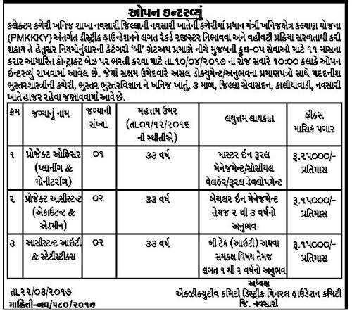 Walk-In-Interview In Collector Office (Mineral Branch
