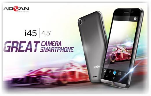 Advan i45 - Ponsel 4G LTE Murah 1 jutaan 2016