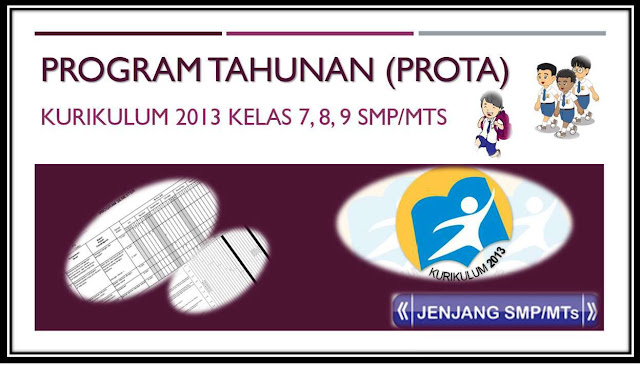 Download program tahunan kurikulum 2013 SMP Lengkap Kelas 7 8 9